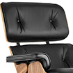 Eames Lounge Chair and Ottoman in Santos Palisander