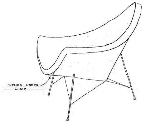 Nelson Coconut Lounge Chair Design