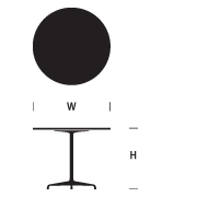Eames 28.5-inch High Round Table with Universal Base